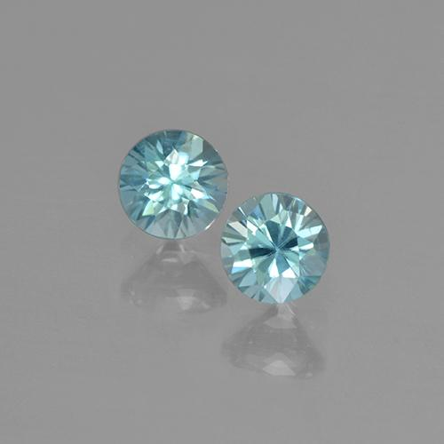 Blue Zircon Gem - 0.4ct Diamond-Cut (ID: 505300)