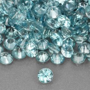 Light Greenish Blue Zircone Gem - 0.5ct Taglio brillante (ID: 505387)