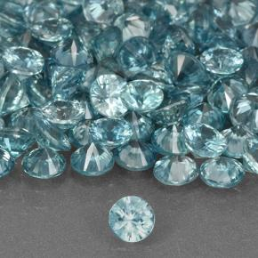 Blue Zircon Gem - 0.4ct Diamond-Cut (ID: 505388)