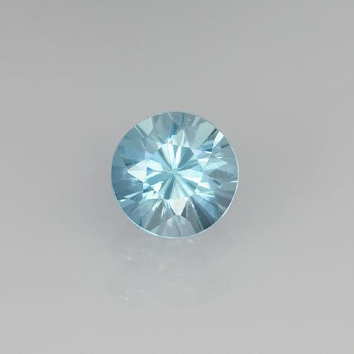 Baby Blue Zircone Gem - 0.6ct Taglio brillante (ID: 505511)