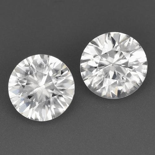 White Zircon Gem - 1.7ct Diamond-Cut (ID: 521373)