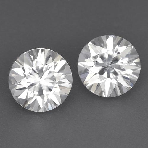 White Zircon Gem - 1.8ct Diamond-Cut (ID: 522303)