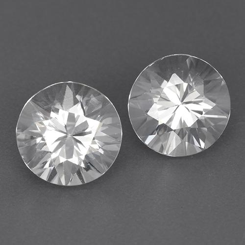White Zircon Gem - 1.8ct Diamond-Cut (ID: 522994)