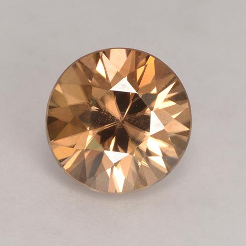 2.3ct Diamond-Cut Medium Orange Zircon Gem (ID: 531177)