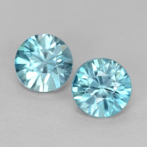 Light Greenish Blue Zircon Gem - 0.5ct Diamond-Cut (ID: 539997)