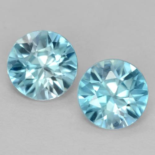 Light Sky Blue Zircon Gem - 0.5ct Diamond-Cut (ID: 540000)
