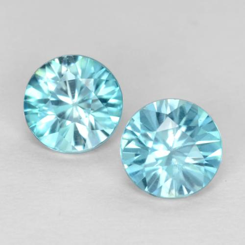 Light Sky Blue Zircon Gem - 0.5ct Diamond-Cut (ID: 540064)