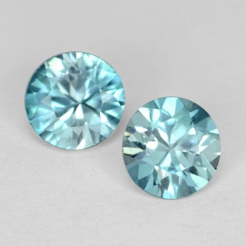 Light Sky Blue Circón Gema - 0.4ct Corte Diamante (ID: 541103)
