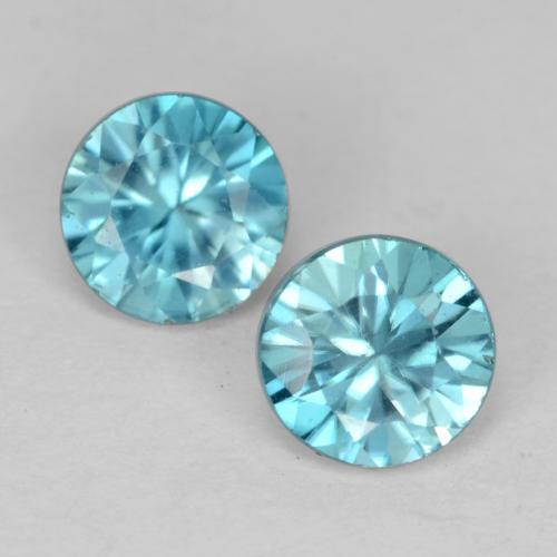 Light Sky Blue Zircone Gem - 0.5ct Taglio brillante (ID: 541104)
