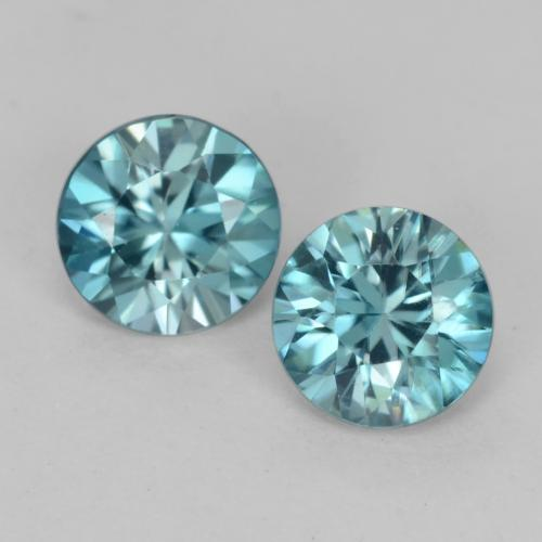 Green Blue Zircon Gem - 0.5ct Diamond-Cut (ID: 541226)