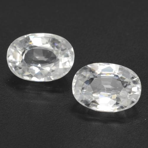 1.4ct Oval Facet White Zircon Gem (ID: 544481)