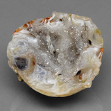 thumb image of 44.8ct Fancy Crystal Cluster Multicolor Agate Geode (ID: 391881)