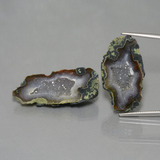 thumb image of 44.9ct Fancy Crystal Cluster Multicolor Agate Geode (ID: 447081)