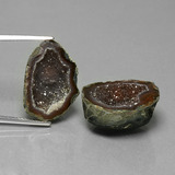 thumb image of 12.4ct Fancy Crystal Cluster Multicolor Agate Geode (ID: 450198)