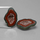 thumb image of 29.2ct Fancy Crystal Cluster Multicolor Agate Geode (ID: 450225)