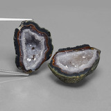 thumb image of 45.6ct Fancy Crystal Cluster Multicolor Agate Geode (ID: 450228)