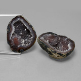 thumb image of 62.3ct Fancy Crystal Cluster Multicolor Agate Geode (ID: 450229)