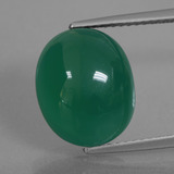 thumb image of 7.7ct Oval Cabochon Green Agate (ID: 426220)