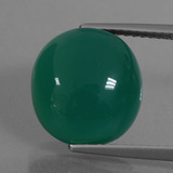 thumb image of 7.2ct Oval Cabochon Green Agate (ID: 426223)