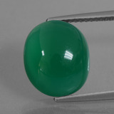 thumb image of 6.5ct Oval Cabochon Green Agate (ID: 426224)