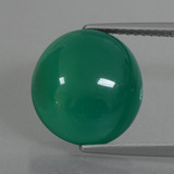 thumb image of 6.4ct Oval Cabochon Green Agate (ID: 426242)