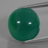 thumb image of 7.5ct Oval Cabochon Green Agate (ID: 426247)