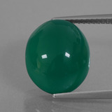 thumb image of 7.1ct Oval Cabochon Green Agate (ID: 426249)