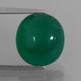 thumb image of 8.2ct Oval Cabochon Green Agate (ID: 426276)