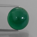 thumb image of 7.7ct Oval Cabochon Green Agate (ID: 426277)