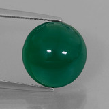 thumb image of 6.7ct Round Cabochon Green Agate (ID: 426281)