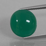 thumb image of 4ct Oval Cabochon Green Agate (ID: 426310)