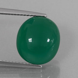 thumb image of 6.9ct Oval Cabochon Green Agate (ID: 426319)