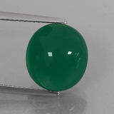 thumb image of 7.6ct Oval Cabochon Green Agate (ID: 426320)