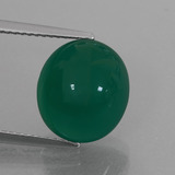 thumb image of 6.7ct Oval Cabochon Green Agate (ID: 426323)