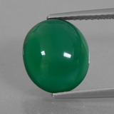 thumb image of 4.3ct Oval Cabochon Green Agate (ID: 426339)