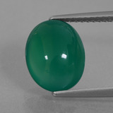 thumb image of 3.4ct Oval Cabochon Green Agate (ID: 426346)