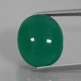 thumb image of 7.5ct Oval Cabochon Green Agate (ID: 426350)