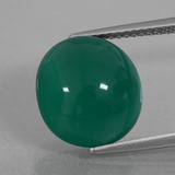 thumb image of 6.9ct Oval Cabochon Green Agate (ID: 426352)