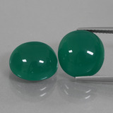 thumb image of 13ct Oval Cabochon Green Agate (ID: 426360)