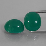 thumb image of 13.3ct Oval Cabochon Green Agate (ID: 426369)