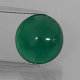 thumb image of 6.1ct Oval Cabochon Green Agate (ID: 426383)