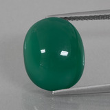 thumb image of 7.8ct Oval Cabochon Green Agate (ID: 426409)