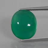 thumb image of 7.8ct Oval Cabochon Green Agate (ID: 426412)