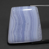 thumb image of 40.2ct Trapezoid Cabochon Lavender Agate (ID: 432551)