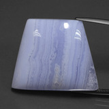 thumb image of 39.1ct Trapezoid Cabochon Lavender Agate (ID: 432554)