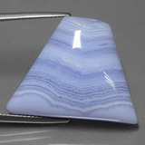 thumb image of 33.8ct Trapezoid Cabochon Lavender Agate (ID: 432583)