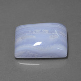26.81 ct Baguette Cabochon Lavender Agate Gem 21.96 mm x 17.4 mm (Photo B)