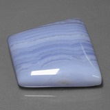 43.77 ct Trapezoid Cabochon Light Blue Agate Gem 28.90 mm x 25.1 mm (Photo B)