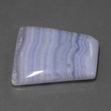28.02 ct Trapezoid Cabochon Lavender Agate Gem 25.41 mm x 25 mm (Photo B)