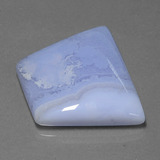 34.86 ct Trapez Cabochon Lavendel Achat Edelstein 28.90 mm x 23.1 mm (Photo B)